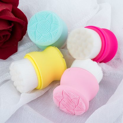 Double Sided Silicone Facial Cleansing Brush 3